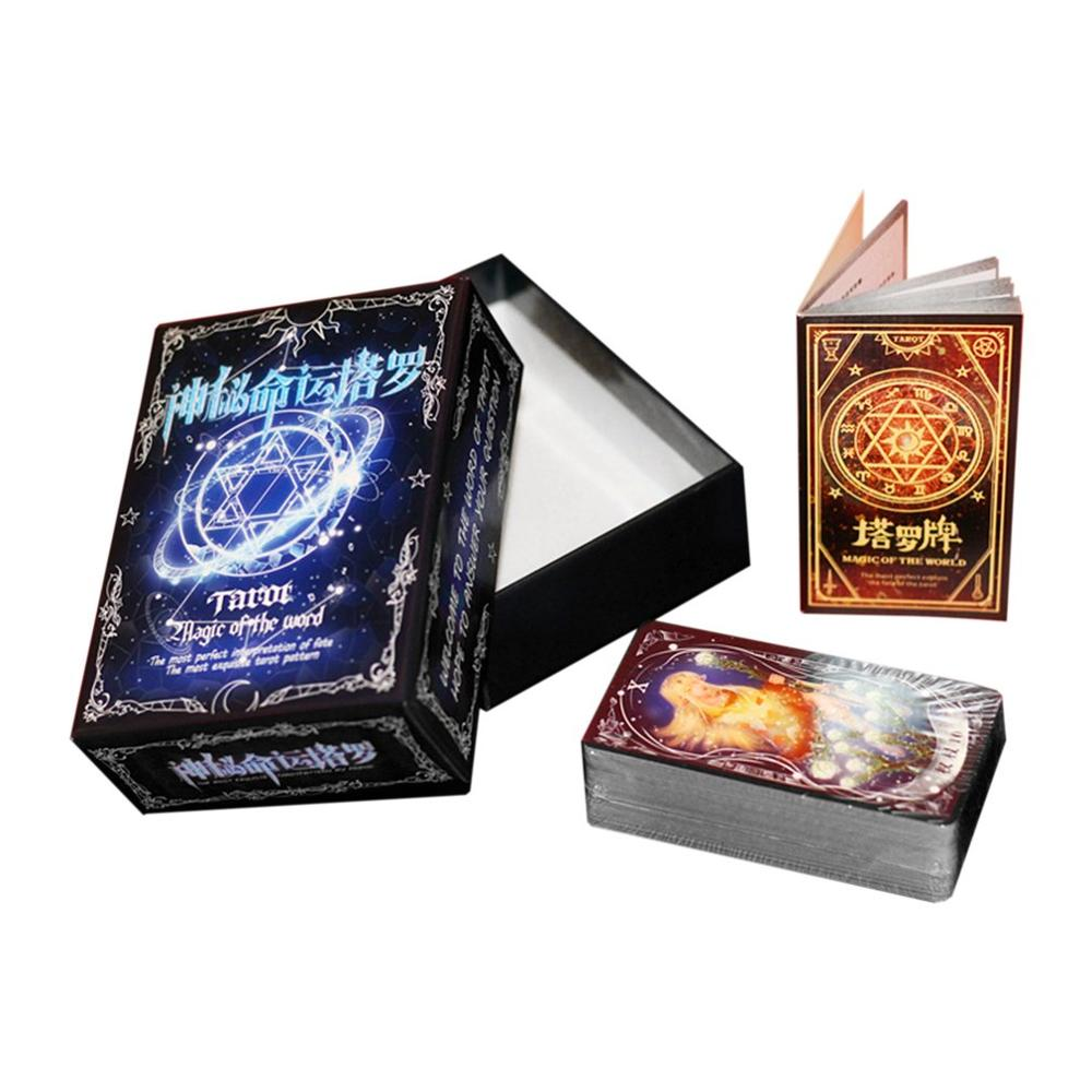 Карты Таро, игра, Забавный дизайн, портативный, для семейного подарка, вечерние, игральные карты, развлечения, чтение, мифическое гадание, га...