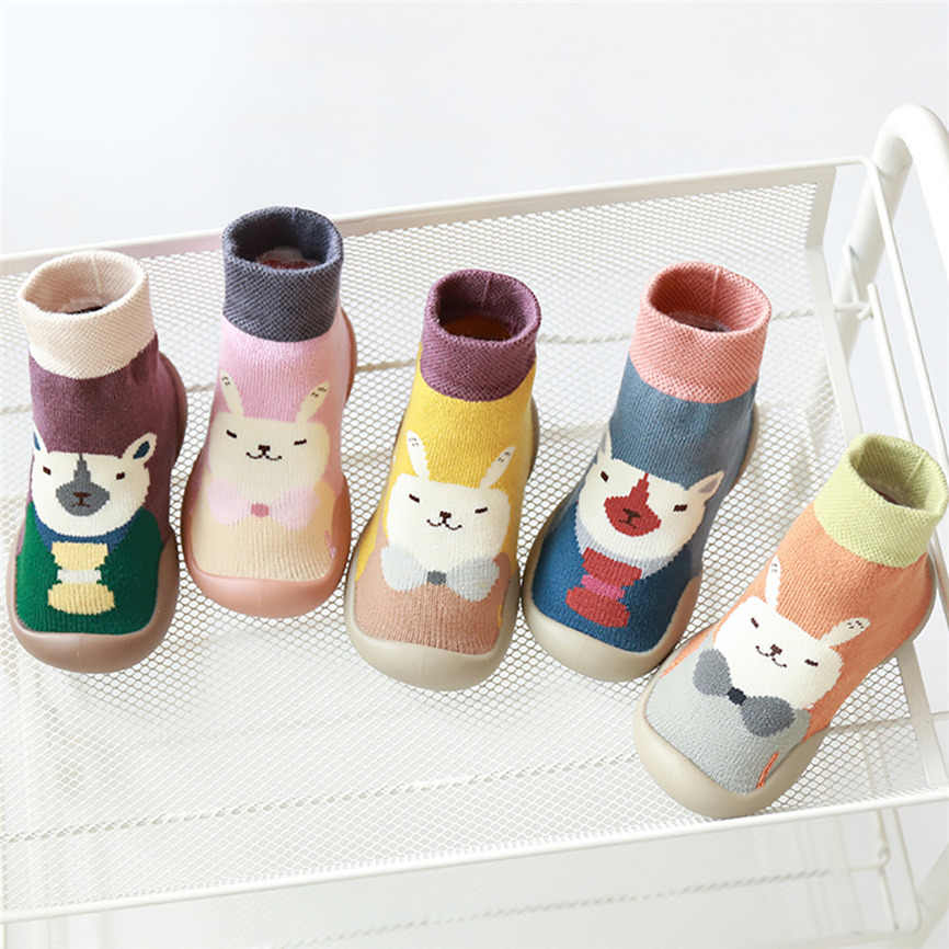 Newborn Baby Boys Girls Cold Weather Floor Socks Bownot Socks Anti-Slip Baby Step Socks