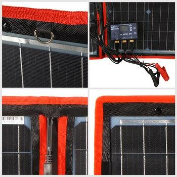 Dokio Flexible Foldable Solar Panel High Efficience Travel & Phone & Boat Portable 12V 80w 100w 150w 200w 300w Solar Panel Kit 4