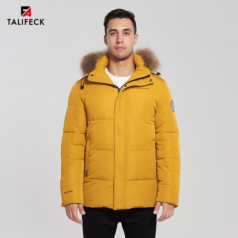2019 Men Winter Parka Thick Cotton Coat Hooded Jacket Parka Real Raccoon Fur Alaska Parkas Men Overcoat Mens Long Winter Jackets