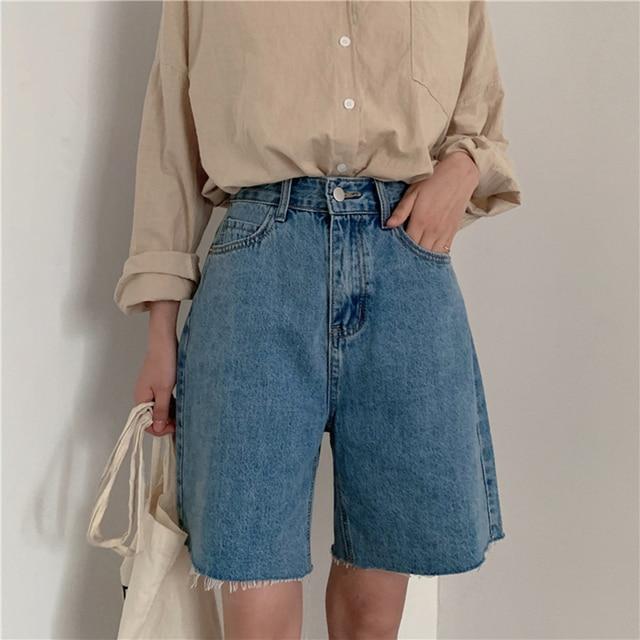 Jean Shorts Women Summer Casual Loose Bike Shorts Korean Style Denim Shorts Streetwear Short Pants Women Jeans Shorts Plus Size 1