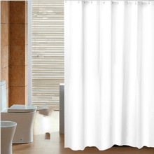 Bathroom Curtains PEVA Water-Proof White Home/hotel Solid for with Rings Simple