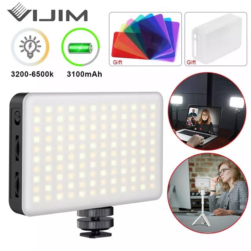 VIJIM VL120 LED Video Light Video Conference Lighting Kit Zoom Lighting for Computer with Tripod Stands Computer Desk Light lamp