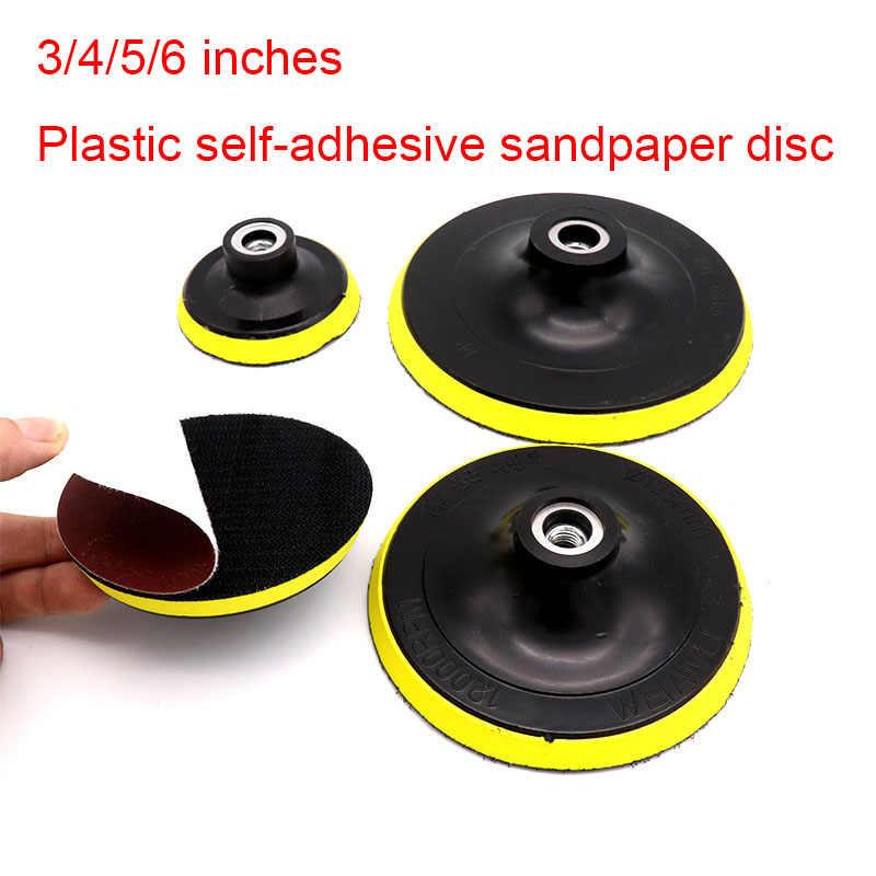 """Self-กาวพลาสติกดูดถ้วยขัด Pad 3 """"/4""""/5 """"/6""""/ 7 """"กระดาษทรายแผ่นขัดไฟฟ้ามุม"""