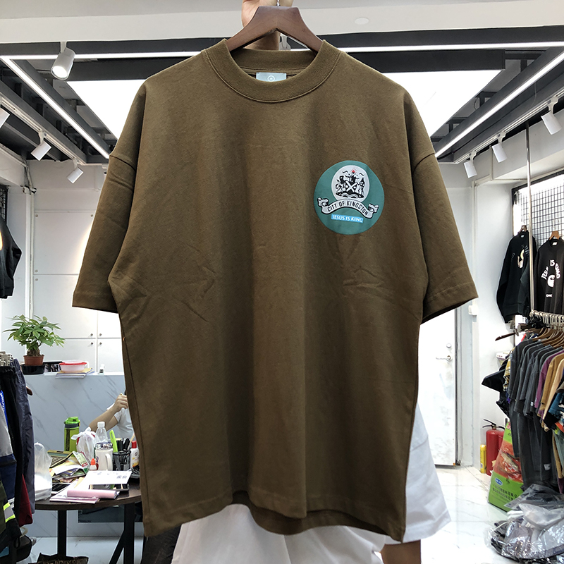 2020 New Jesus Is King T-shirt Men Women Casual Cotton T-shirts Kingston City Logo Kanye West Tee Summer Spring Tops