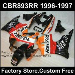 Brand new plastic fairing  for HONDA CBR900RR 893 96 97 CBR 893RR 1996 1997 repsol Replace CBR 893 fairings body kit parts
