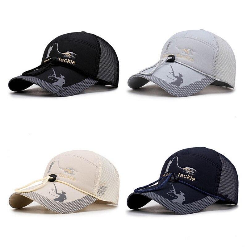 2020 New Mesh Fishing Cap With Drawstring Adjustable Sports Sun Visor Hat Unisex Fishing Sport Baseball Multifunction Caps