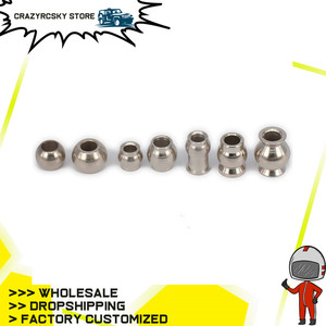 8pcs Ball Head Of Shock Absorber Damper 1/8 1/10 1/16 1/18 Rc Model Car Tpy Spare Parts For Hpi Losi Axial Redcat Himoto(China)