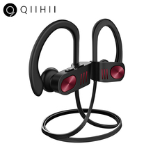 QIIHII Sport Wireless Headphones IPX7 Waterproof Earbuds HiFi Stereo Earphone Bluetooth Headset Noise Canceling Headphone ditmo 3 5mm adjustable foldable headband noise canceling stereo headphone dark blue