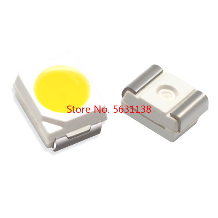 100PCS 3528 WHITE 7-8LM SMD LED TRUE WHITE 6000-7000K/NATURAL 4000-5000K/WARM 2800-3200K/COOL 9000-13000K High Bright Cree COB