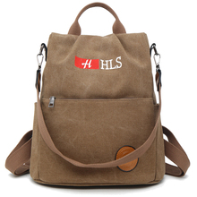 Famous Brand Women Backpack Canvas School Bag Large Capacity Travel Bags Multi Pocket Double Zipper Backpacks Multicolor сумка patch detail double zipper canvas backpack