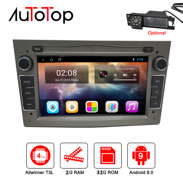 "AUTOTOP 7""2din Android 9.0 Car GPS Navigation for Antara Zafira Corsa Vivaro Meriva Radio Headunit RDS Wifi Mirrorlink BT NO DVD"