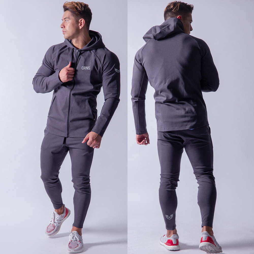 NEW Hoodie Sweatshirt Pants Set Men Casual Tracksuit Suit Sporty Joggers Sweatpants Autumn Male Cotton Brand Sportswear Trousers