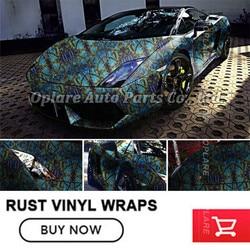 Wysokiej jakości matowa rdza folia winylowa do samochodu Wrap Style stylizacja pojazdu unikalna rdza 1.52*20 m/30 m f w Naklejki samochodowe od Samochody i motocykle na