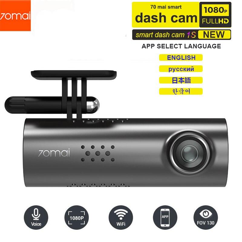Xiaomi 70mai voiture DVR anglais commande vocale Cam 1080HD Vision nocturne caméra de bord Wifi 70 mai voiture caméra enregistreur automatique g-sensor