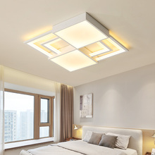White square modern led Ceiling lights indoor lighting Metal+acrylic ceiling light for Bedroom ceiling lamp luminaire plafonnier цена в Москве и Питере