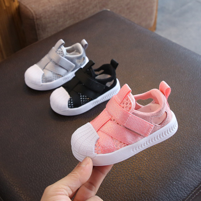 DIMI 2020 Summer Baby Shoes Breathable Mesh Casual Infant Toddler Sandals Non-Slip Soft Kid Anti-collision Shoes