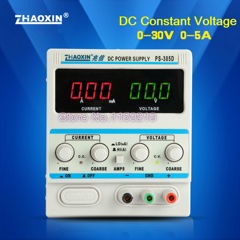 DC Power Supply 30V 5A High Reliability Digital Linear Constant Voltage With CE Approval For Hull Cell Hall Groove Experiment