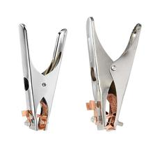 цена на 1Pc 300/500A Welding Ground Clamp Welding Electrode Holder Earth Ground Cable Clip for Welding Clamps Welder Tools