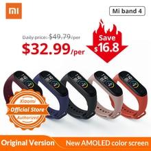 Xiaomi mi band 4 Смарт-часы глобальная версия фитнес браслет с пульсометром активности фитнес-трекер Смарт браслет здоровья цветной дисплей новинка умный шагомер с измерением давления