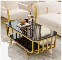 Simple modern living room small family marble tea table Nordic light luxury tea table creative rectangular tea table home simple tea table tea table balcony leisure small table