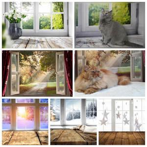 Image 1 - Yeele Photophone Foto Hintergrund Frühling Fenster Sonnenschein Holz Bord Baby Vinyl Fotografie Hintergrund Photo Für Foto Studio