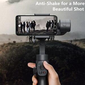 Image 2 - Baseus 3軸ハンドヘルドジンbluetooth selfieスティックカメラビデオスタビライザーiphoneアクションカメラ