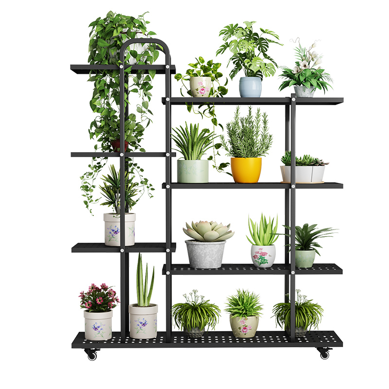 Frame Multi-storey Iron Art Flower Rack Shelf A Living Room Landing Type Indoor Balcony Chlorophytum