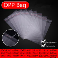 100pcs Width 13cm Storage Bags Clear Self Adhesive Seal Plastic Packaging Bag Resealable Cellophane OPP Poly Bags Gift Bag(China)