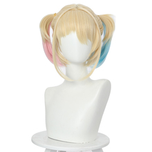 2020 Birds of Prey Harley Quinn Cosplay Wigs Heat Resistant Synthetic Hair Women Party Wigs