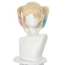 2020 aves de rapina harley quinn cosplay perucas resistente ao calor do cabelo sintético perucas femininas festa