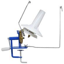 Enrolador giratório manual da máquina do enrolamento do ferro da bola do fio de lã no tamanho da caixa enrolador mão operado da bola do fio