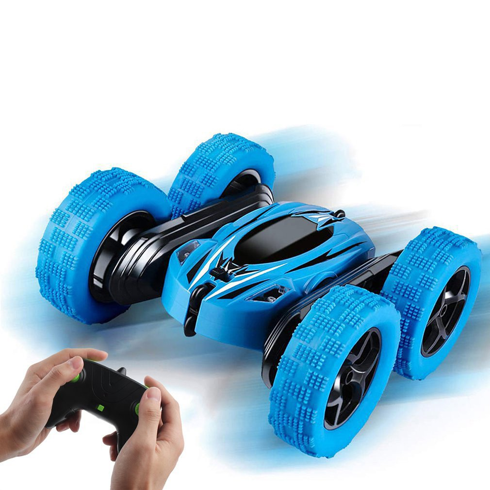 Rechargeable Remote Control Car Mini Double Sided Stunt Car Kids Toy Rc Car Gravity Defying Tumbling Car