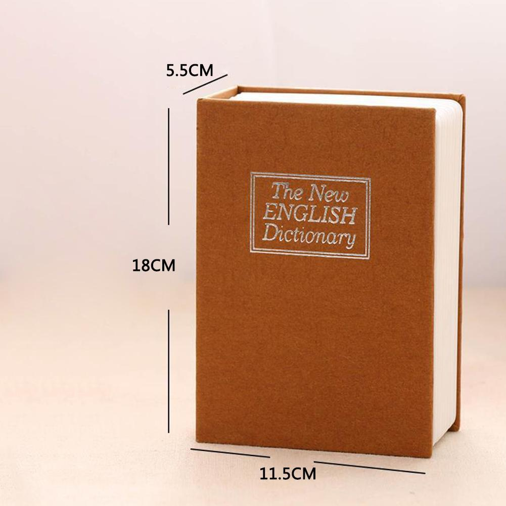 7.2 * 4.6 *2.2 Inch Storage Safe Box Dictionary Book Jewellery Secret Security With Lock Key Locker Money Hidden Bank Cash B7G2