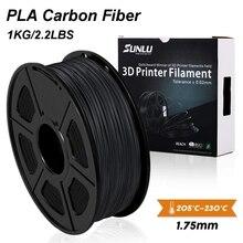 SUNLU PLA imprimante 3D, Fiber de carbone, Filament extrêmement rigide, 1.75mm +/  0.02mm, 1 KG (2.2 lb)