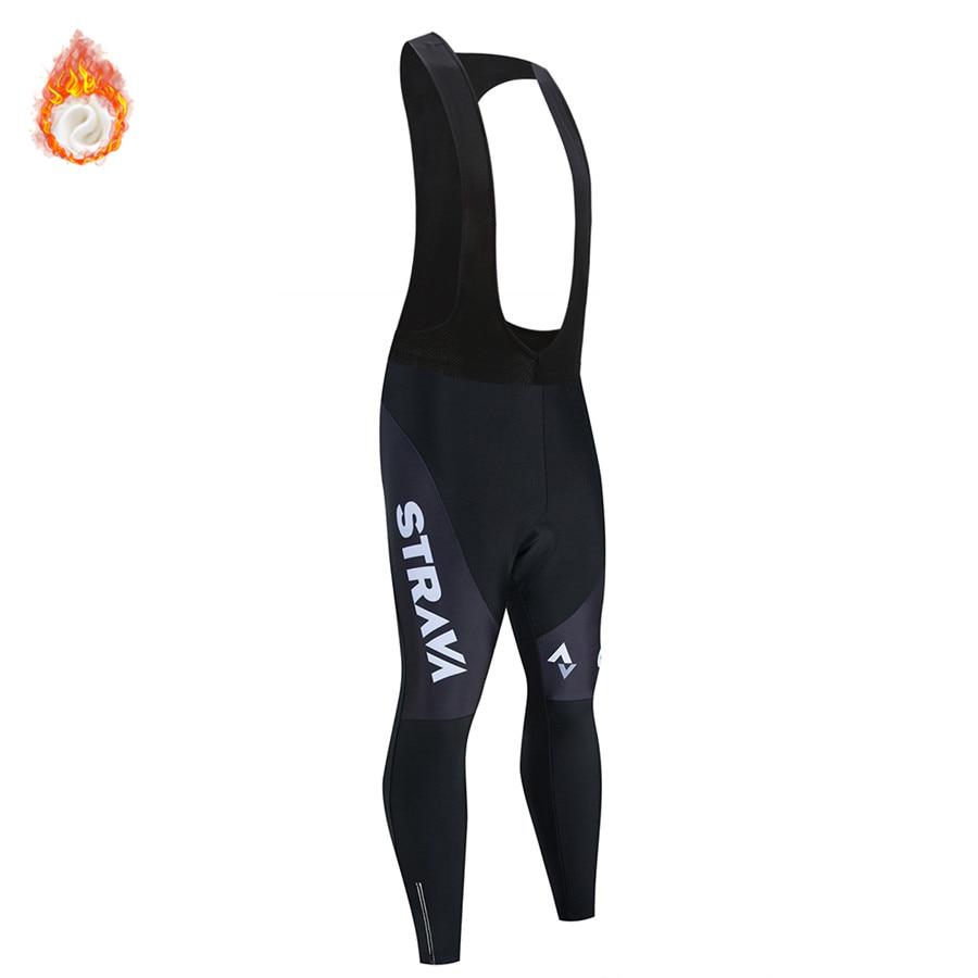 2019 STRAVA теплые велосипедные брюки зимние теплые длинные брюки для горного велосипеда велосипедные колготки 20D гелевые подкладки велосипедн...