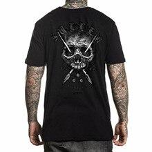 T-shirt manica corta Holmes Badge Sullen da uomo nero Dominic Holmes Clothing