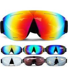 2020 Professional HD Ski Goggles UV400 Anti Fog Ski Eyewear Winter Windproof Snowboard Glasses Mirror Lens Skiing Goggles