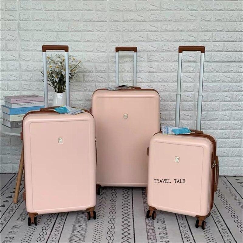 """Opowieść podróży mody podróży bagaż retro spinner walizka abs, koffers wózki na podróż 20 """"25"""" 29 """"cal w Zestawy bagażowe od Bagaże i torby na  Grupa 2"""
