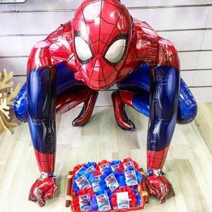 1 pz 55x63CM 3D Spiderman iron Man Batman palloncini in alluminio hero decorazioni per feste di compleanno forniture regali per bambini giocattoli Globos(China)