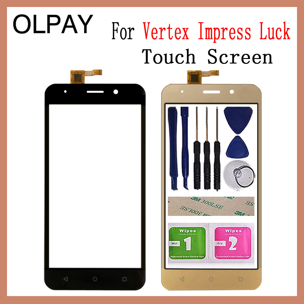 Mobile Phone Touch Screen Glass 5.0'' Inch For Vertex Impress Luck Touch Screen Digitizer Panel Front Glass Lens Sensor