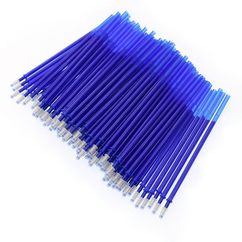 100pc / Batch Bullet Type 0.5 Mm Erasable Pen Office Magic Erasable Gel Pen Student Set Writing Tools Stationery School Supplies