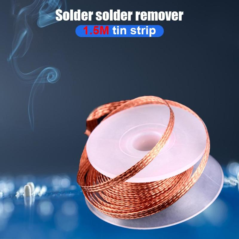 2/2.5/3/3.5mm Width 1.5M Length Desoldering Braid Welding Solder Remover Wick Wire Lead Cord Flux BGA Repair Tool