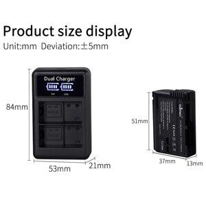Image 2 - ABHU Mamen 3Pcs EN EL15 EN EL15A EN EL15 ENEL15 Digital Camera Battery + LCD USB Dual Charger for Nikon D810 D7000 D750 V1 D610