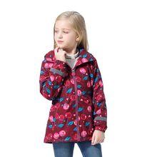 Kiraz kırmızı su geçirmez moda kapşonlu polar çocuk ceket bebek kız ceketler çocuk giyim çocuklar kıyafetler yüksekliği için 98 152cm