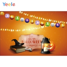 Yeele Halloween Photocall Pumpkin Lantern Witch Hat Photography Backdrops Personalized Photographic Backgrounds For Photo Studio