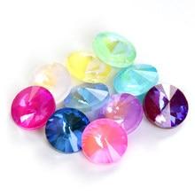 Astrobox – perles de verre en cristal, Fluorescence, pour fabrication de bijoux, DIY, 50pcs