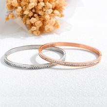 Korean-style-Style Hot Selling Hand Jewelry Diamond Set Leaf Rose Gold Titanium