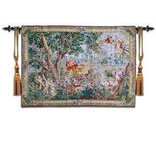 """Belgian Tapestry European RETRO art Tapestries Living room wall paintings """"Hofgarten""""95X137CM GT HY2014"""