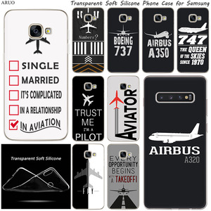 Airplane DIY Airstrip Number Silicone phone case for Samsung Galaxy A9 A8 A7 A6 Plus A5 2018 M21 M31 M11 M20 s M30s A8S S6 A21s(China)